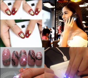 Professional Nail Art Newest Nfc LED Flash Nail Art Sticker