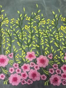 Wholesale New Design Flower Embroidery Lace Fabric for Dress pictures & photos