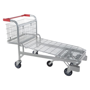 Large Capacity Wire Warehouse Flat Cart (YD-M44) pictures & photos