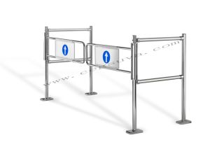 Dual Mechanical Gate Supermarket Gate, Swing Gate, Entrance Gates, Barrier Gate, Gate Opener pictures & photos