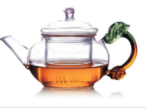 Fashion Design Heat Resistant Brosilicate Glass Tea Pot with Filter pictures & photos