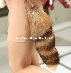 Fashion Fox Fur Tail Keychain