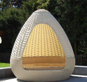 Spherical Dome Sunshine Lounge Beach Circular Garden Furniture Rattan Sunbed T583 pictures & photos