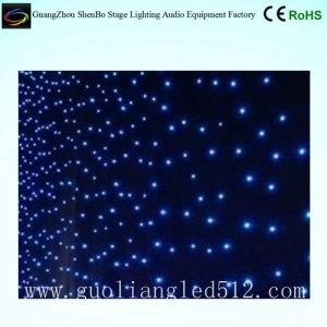 LED Christmas Stage Backdrop Decoration Star Cloth