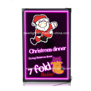 High Quality RGB LED Illuminated Fluorescent Sign with Romote Control