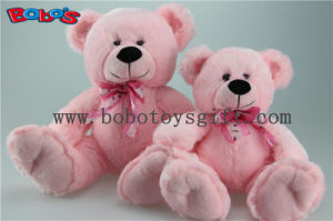 Soft Pink Sitting Plush Teddy Bear with Ribbon pictures & photos