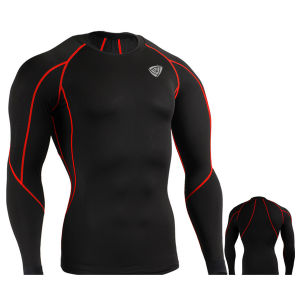 Compression Under Base Layer Top Skin Tight Long Sleeve T-Shirts Sports (SRC61) pictures & photos