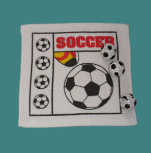 Soccerball Designed Compressed Towel Cotton Towel pictures & photos