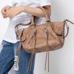 Black Genuine Leather Ladies Handbag for Women pictures & photos