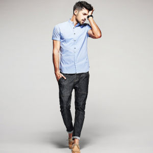 The Wholesale Mens Dress Shirts Models with Mens Casual Shirts Men Wash and Wear pictures & photos