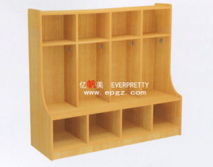 Children Wooden Library Wooden Shelf for Corner pictures & photos