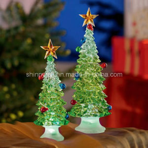 Promotional Gift Decorative Light Acrylic Christmas Tree for Home Decor