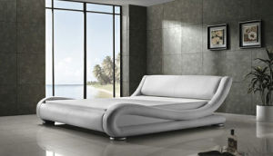 Best-Selling Modern Bedroom Furniture Adult Leather Bed (HCM020) pictures & photos