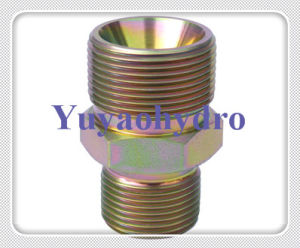 JIS Fttings Male Connector 60 Deg Cone BSPT Thread pictures & photos