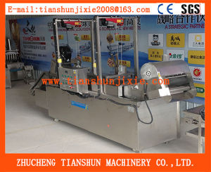 Fully Automatic Stainless Steel Wavy Taro Chips Frying Machine Tszd-40 pictures & photos