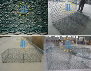 Galvanized Galfan PVC Coated Gabion Basket Prices pictures & photos