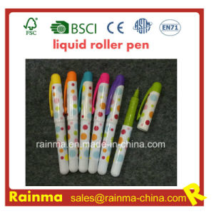 Mini Plastic Liquid Roller Pen with Nice Mulit Color pictures & photos