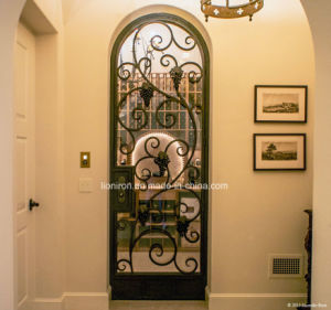 Interior Wrought Iron Door with Grape and Leaves pictures & photos