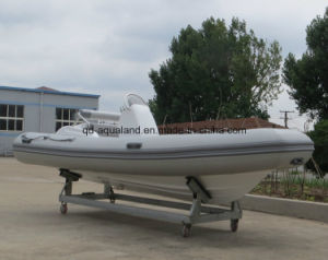 Aqualand 16feet 4.7m Fiberglass Rigid Inflatable Boat/Rib Fishing Boat (RIB470C) pictures & photos