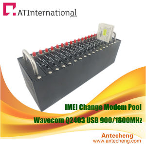 16 Ports IMEI Change Modem Pool with Software Supported Wavecom Q2403 Modules