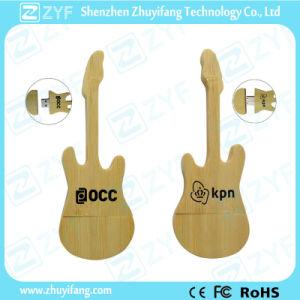 Guitar Shape Bamboo USB Drive with Custom Logo (ZYF1342)