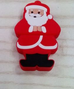 Hot Sell USB Stick Memory Chirstmas Gift Santa Claus PVC Pendrive pictures & photos