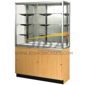 70inch Glass Wall Diplay Case with Storage Base