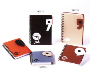 PVC Cover Wire-O Notebooks with Buttons pictures & photos