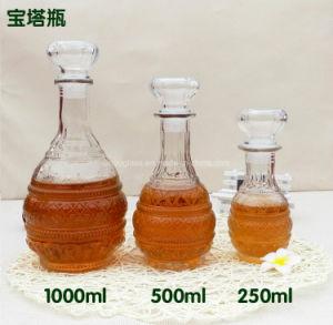 500ml 750ml Transpora Wine Glass Bottles for Liquor, Vodka, Whiskey, Spirit pictures & photos