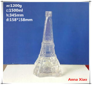 Effile Tower Shape 1500ml Glass Wine Bottles pictures & photos