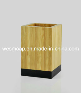 Carbonized Bamboo Bathroom Accessory with Black Edge (WBB0617A) pictures & photos