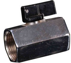 FF Forging Chromed Mini Ball Valve with Aluminium Handle (YED-A1053)