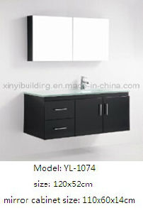 Sanitary Ware Furniture with Glass Wash Basin pictures & photos