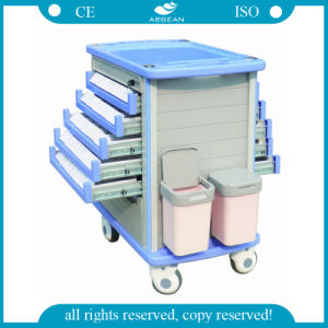 AG-Mt011A1 Medical Hospital Trolley ABS Medicine Trolley pictures & photos