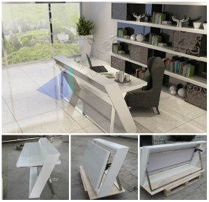 Simple Design Folding Computer Table for Home pictures & photos