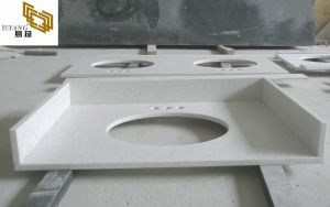 White Quartz Vanity Tops for Hotel Bathroom Projects (YY-QC004) pictures & photos