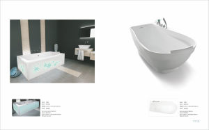 Freestanding Acrylic Solid Surface Bathtub for Bathroom pictures & photos