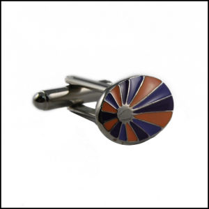 Colorful Soft Enamel Metal Silver Plated Cufflink (GZHY-XK-020) pictures & photos