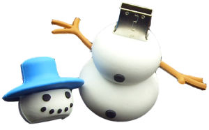 PVC 3D Snowman Flash Memory Pen Drive USB Flash Drive pictures & photos