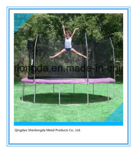 12′ Round Purple Trampoline with Safety Net Enclosure pictures & photos