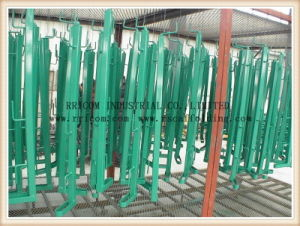 Powder Coated Scaffolding Guard Rail Export to Spain Market pictures & photos