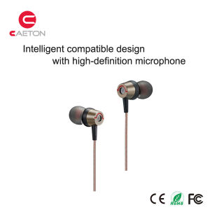Durable 3.5mm Jack Earbuds Metal Case Earphones with Cable pictures & photos