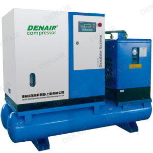 Stationary Screw Air Compressor with Air Tank and Air Dryer pictures & photos