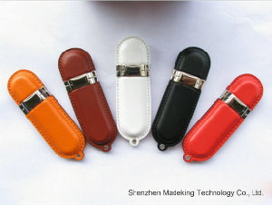 Computer Accessories USB Flash Memory Stick Customized Logo Leather USB Drive pictures & photos