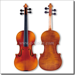 Nice Flamed Master Handmade Maple 4/4 Violin (VH600A) pictures & photos