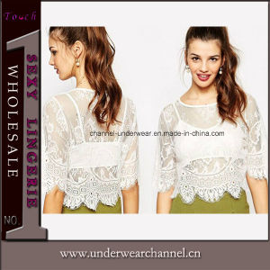 Wholesale Lace Fashion Shirt Two-Piece Boho Ladies Top (25488) pictures & photos