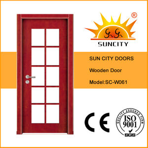 Teak Wood Main Door Design Wooden Doors (SC-W011) pictures & photos