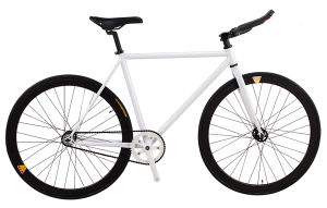 700c Single Speed Road Bicycle Black White Fixed Gear Bike (dg-fg-006)
