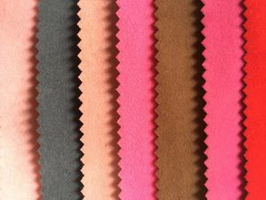 Plain Flock Fabric with Stock Used for Jewellery Box /Sofa Cover/Curtain (JP) pictures & photos