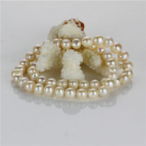 Snh White Natural Freshwater Pearl Set Wholesale pictures & photos